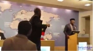 """Governor Okorocha """"Attacked"""" By Biafran Supporter At Chatham House In London"""